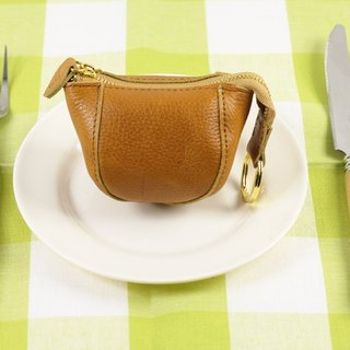 Eat eat rabbit purse / leather (coffee brown)