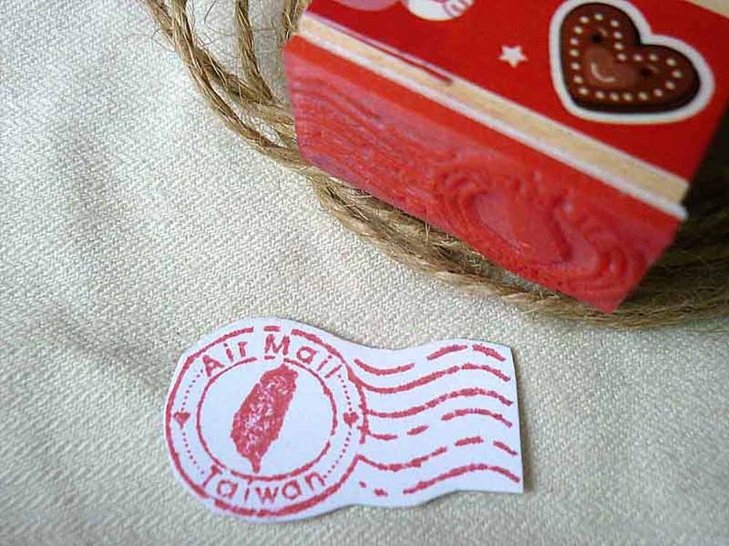 Postcard Stamps Airmail Letters Airmail Chapters Paravion Chapter Taiwan Creative Rubber Stamps Air Chapter Stamps Chapter Queen Head Flags Chapter