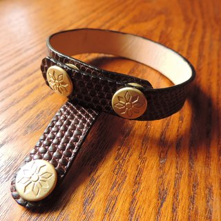 Lizard leather bracelet / bracelet & amp; reel group