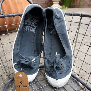 victoria Spanish nationals handmade shoes - smoke color ANTRACITA (baby shoes)
