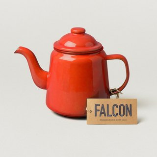 British afternoon tea enamel pot - Red | FALCON