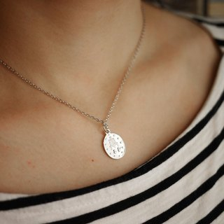 MUFFëL 925 Silver Silver Series - Little Silver Medal Our Lady silver necklace collarbone