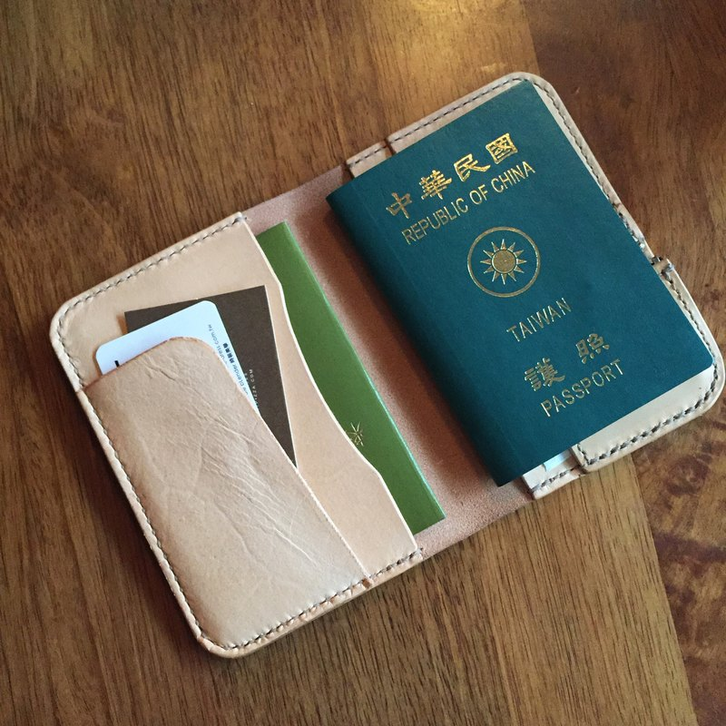 88Tailors 手工 本色植鞣革 護照夾