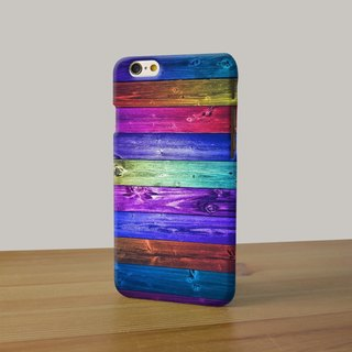 Print Wood Rainbow 3D Full Wrap Phone Case, available for  iPhone 7, iPhone 7 Plus, iPhone 6s, iPhone 6s Plus, iPhone 5/5s, iPhone 5c, iPhone 4/4s, Samsung Galaxy S7, S7 Edge, S6 Edge Plus, S6, S6 Edge, S5 S4 S3  Samsung Galaxy Note 5, Note 4, Note 3,  Not