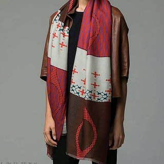 (For Ace Huang) printed pattern long scarf / batch shoulder Ana Maison # 1024 - Taiko (subscript please Gou Q)