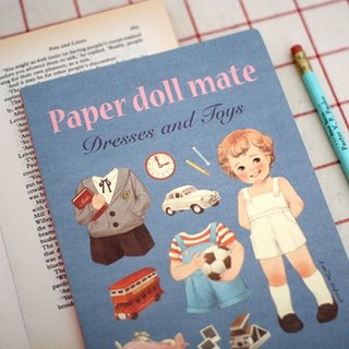 Korea [Afrocat] papaerdoll line notebook <Tom> Vintage doll diary notes memo PDA