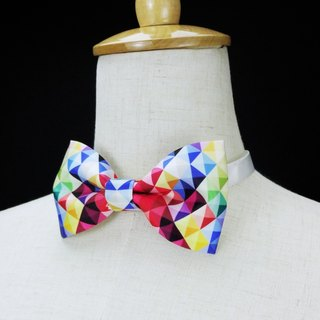 Colorful cube necklace, colorful cube bow tie, dream design studio,