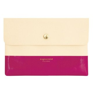 [Japanese] Prendre LABCLIP series File case pouch (button) Pink