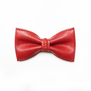 Red leather bow tie Bowtie