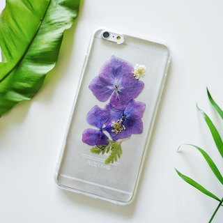 Pressed Flowers Phone Cases - Purple Hydrangea Collection for iphone 5/5s/SE/6/6s/6 plus/6s plus/7/7plus/Samsung S4/S5/S6/S6Edge/S7/S7Edge/Note3/Note4/Note5