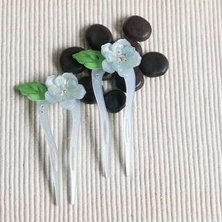 Color of Something New, U-shaped hairpin, hairpin, hair plug - baby blue