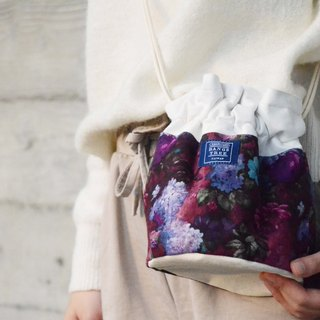 :::Bangstree:: Shoulder Bucket Bag - Purple retro flower
