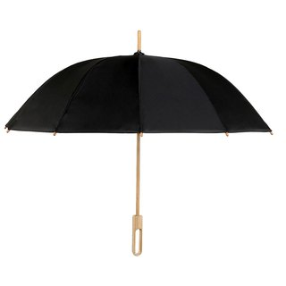 Bamboo language | classic black and black handmade bamboo long handle umbrella, red dot IF award