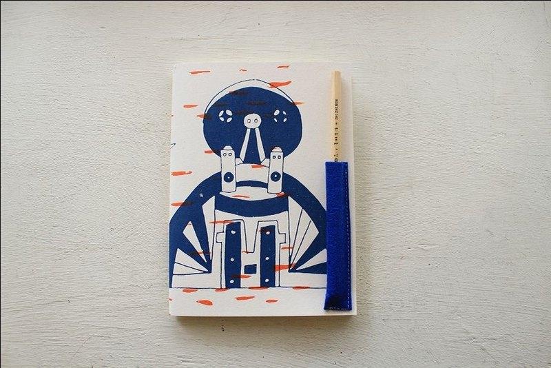 【ZhiZhiRen】厵 | 車縫線筆記本 - 鳳山打鐵