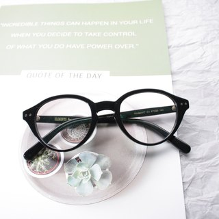 Blue Black Boston Oval eyeglasses Handmade in Japan eyewear