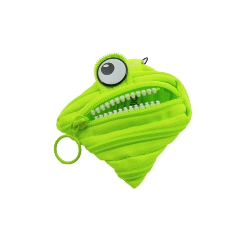 Zipit monster zipper bag (small) - Fluorescent Green