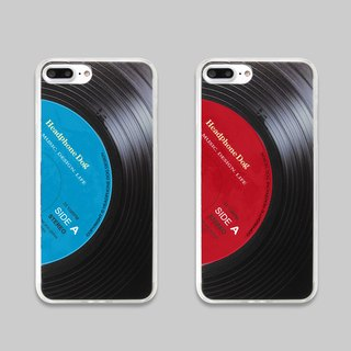 Vinyl iPhone Case (red/blue) iphoneX/8/7/6/5/se