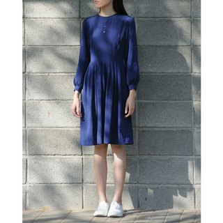 Spend vintage / dark blue long-sleeved dress