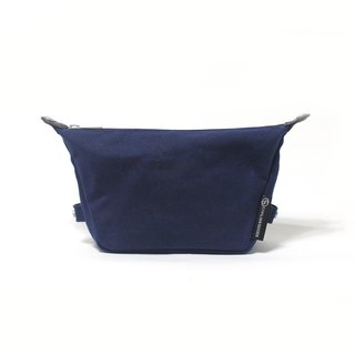 Waxed Canvas essentials pouch -Hand Blue