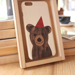 Korea painting style top anti-wear paint phone protective shell [Spa smaller objects / Party Bear Qingsheng Bear] Korean design house can be customized model iPhone: i6s / i6s plus + / i6 / i6 plus / i5 / Samsung Samsung: S6 Edge + plus / S6 / S6 Edge / S5