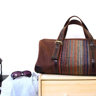 [Happa] will style bag - Belt Long put - hand-knotted kilim paragraph (Brown earth Brown) bulk bags totem wandering wind autumn Travel Essentials