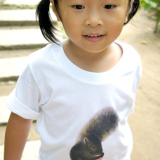 Red-bellied squirrel T-shirt (children's section - mountain cherry)