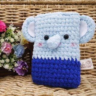 Marshmallow animal cell phone pocket - Elephant