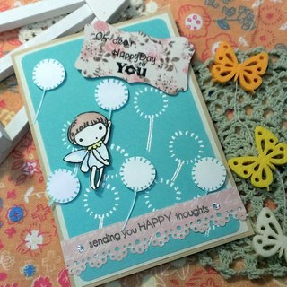 Handmade cards - Dandelion fly (universal card / birthday card / greeting card)