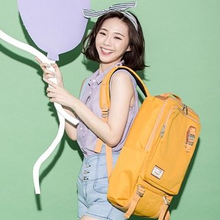 Doughnut Waterproof Toast Backpack - Cream Yellow