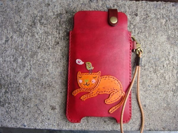 [ISSIS] friend of the chirp Mi duo - all hand-made leather phone