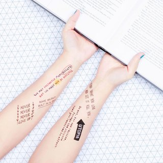 Surprise Tattoos - Treasure Sentence Temporary Tattoo