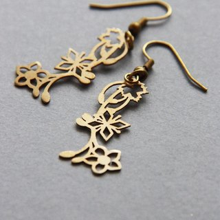 Flowers and Maple Leafs Earrings