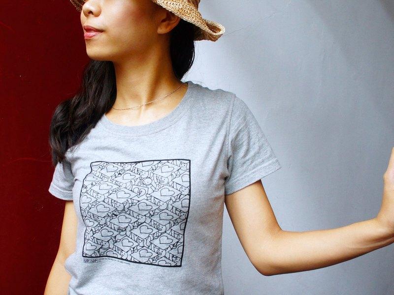 【UPUP舉牌小人】官方限定 談戀愛舉牌小Tee 短袖T恤