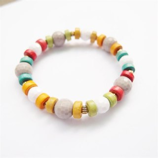 Natural line style beaded bracelet B section