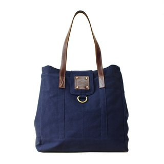 [Happa] personality Cikou Tote - stonewashed canvas classic (Navy Navy)