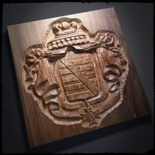 10-inch embossed badge