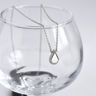 Water drop gemstone necklace sterling silver