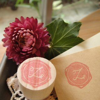 Hand-made rubber stamp - wax seal chapter (resolution 1 Z)