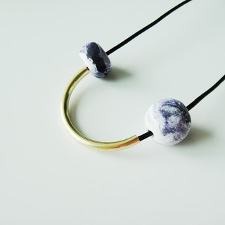 Marble Arc Necklace- Purple
