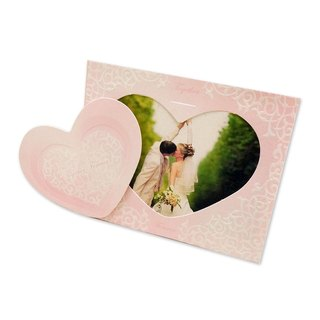 Xpress Card Elegant Weddings / Wedding Happiness posts teaser card (pink) 10 into the group, is also a photo frame card