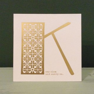 Bronzing letter card envelope sticker set -K