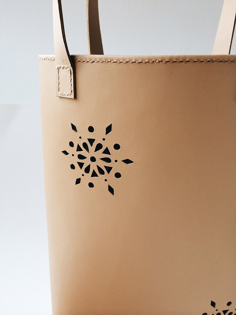 Zemoneni leather tote pattern hand bag in Beige color with coin bag 2 in 1