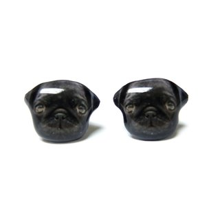 Black Pugs earrings A025ER-D23