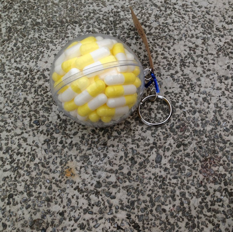 Ball rescue series key ring - yellow hole