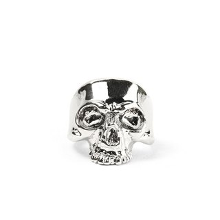 [METALIZE]KING SKULL RING King's Ring (Iron Platinum)