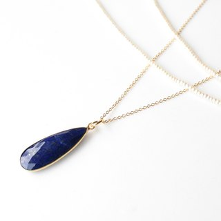 Journal deep sea / lapis lazuli, sterling silver necklaces
