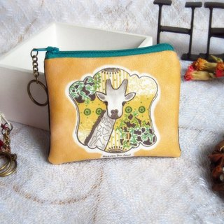 Giraffes are always dreaming coin purses (small)