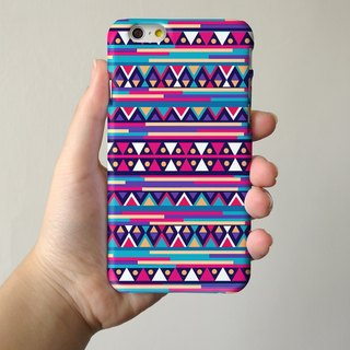 Purple Navajo Tribal Pattern 3D Full Wrap Phone Case, available for  iPhone 7, iPhone 7 Plus, iPhone 6s, iPhone 6s Plus, iPhone 5/5s, iPhone 5c, iPhone 4/4s, Samsung Galaxy S7, S7 Edge, S6 Edge Plus, S6, S6 Edge, S5 S4 S3  Samsung Galaxy Note 5, Note 4, No