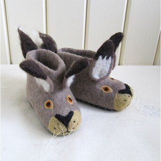 Warm indoor shoes / births ceremony ► British sew heart felt small goat grazing felt shoes - Lee Rabbit