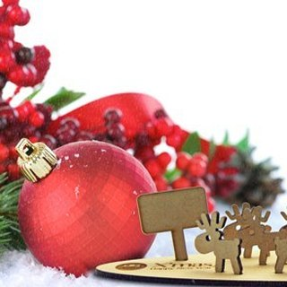 [Design] eyeDesign saw wooden Christmas gift deer family - tree deer